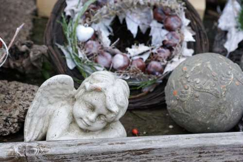 Angel Sad Sculpture Mourning Cemetery Death Wing