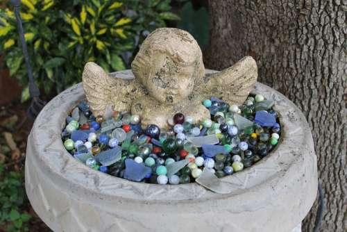 Angel Marbles Garden Statue Religion Symbol Old