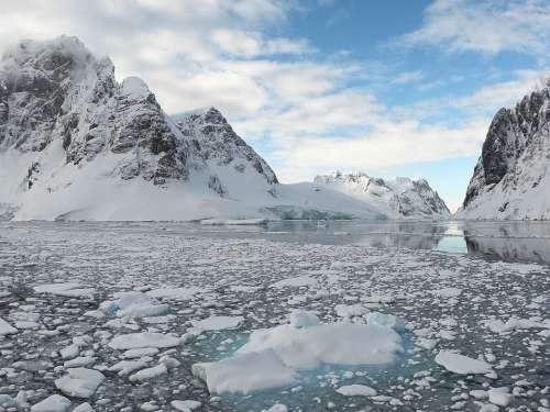 Antarctica Mountains Ice Iceberg Landscape Nature