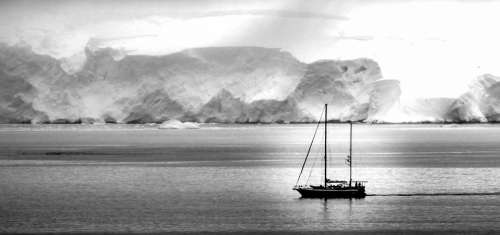 Antarctica Boat Ship Ice White Water Landscape