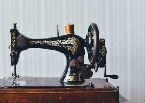 Antique Sewing Machine Home Old Retro Vintage