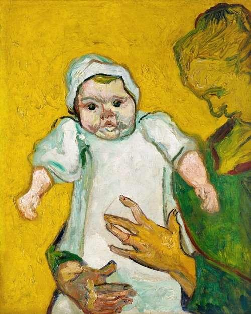 Antique Art Artwork Baby Detailed Dutch Famous