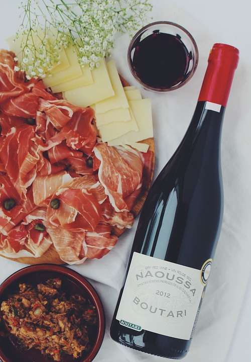 Aperitif Wine Ham Celebration Food Bottle