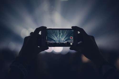 Apple Concert Dark Iphone Lights Macro Party