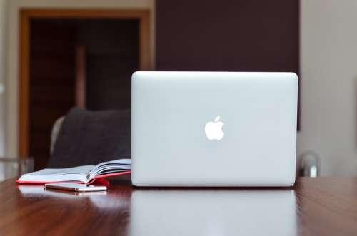Apple Macbook Notebook Computer Data Desk