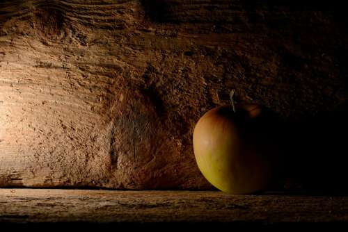Apple Wood Fruit Advent Deco Christmas Background