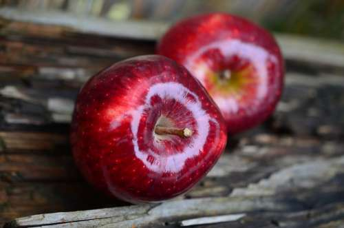 Apple Red Apple Fruit Red Healthy Vitamins Fresh