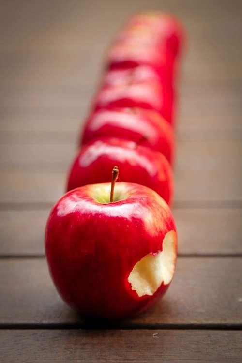 Apples Fruit Red Juicy Ripe Vitamins