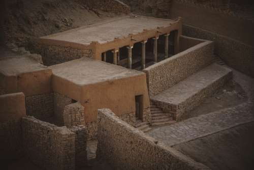 Arabia Castle Marid Building Old Architecture