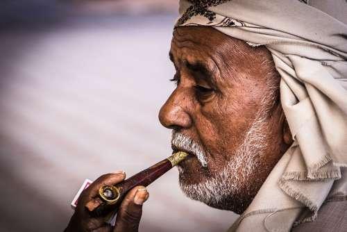 Arabs Face Orient Arabic Islam Muslim Smoking