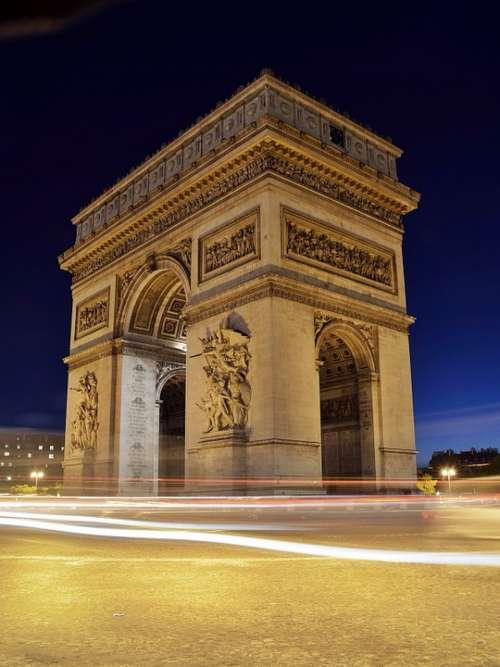Arc De Triomphe Paris France Europe French