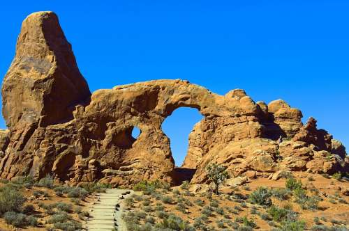 Arch In A Sandstone Fin Sandstone Arches National