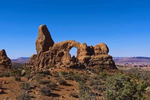 Arches Turret Sandstone Arches National Park