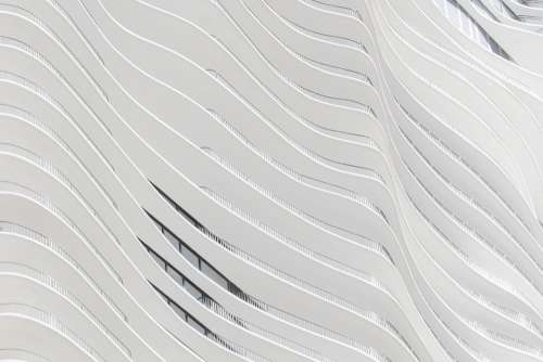 Architecture Building Modern Facade Wall Wave