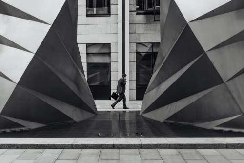 Architecture Building Businessman City Windows