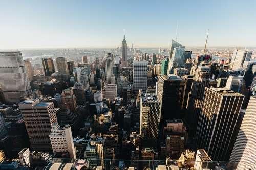 Architecture Manhattan New York Usa Buildings