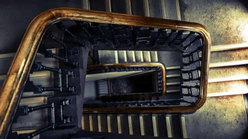 Architecture Indoors Perspective Staircase Stairs
