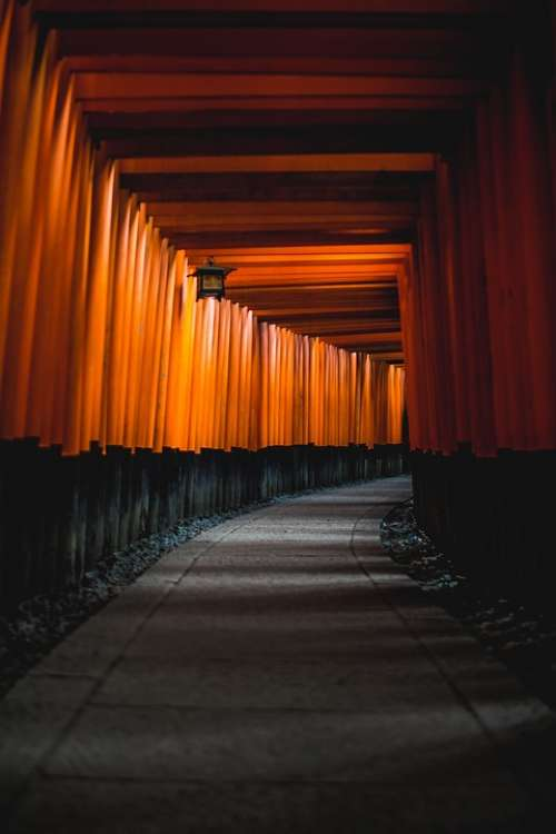 Architecture Japan Kyoto Shinto Hallway Path