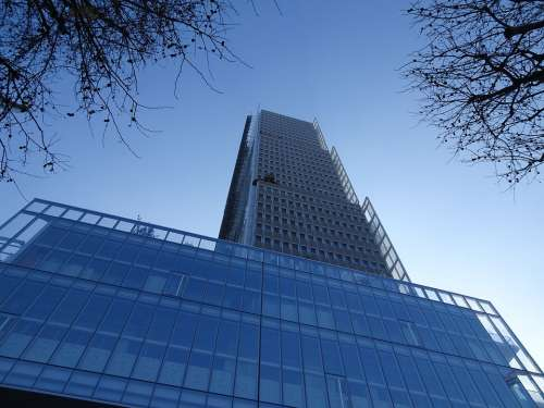 Architecture Glass Windows Office Building Design