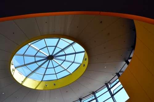 Architecture Window Ceiling Győr Arcade Building