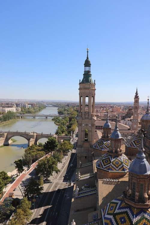 Architecture Zaragoza Spain Cathedral The View