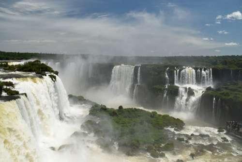 Argentína Brazil Iguazu Iguacu Falls River