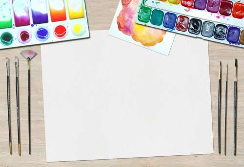 Art Paint Water Colors Desk Artist Equipment