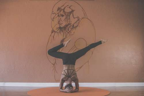 Art Yoga Balance Color Drawing Exhibition Indoors