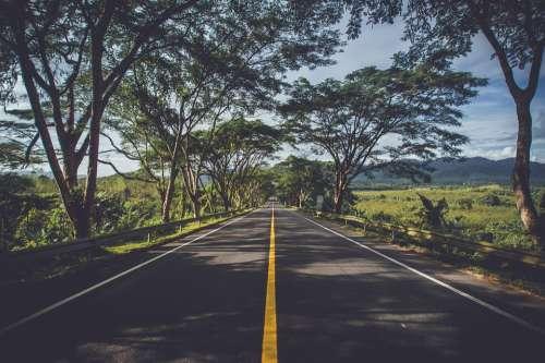 Asphalt Street Highway Landscape Road Roadway