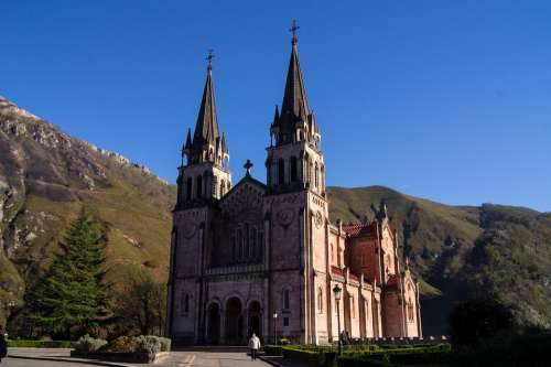Asturias Covadonga Church Construction Sanctuary