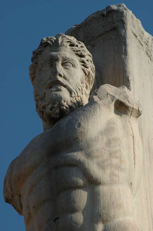 Athens Pantheon Agora The Statue Of Minerva