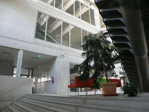 Atrium Aula University Modern Architecture Space