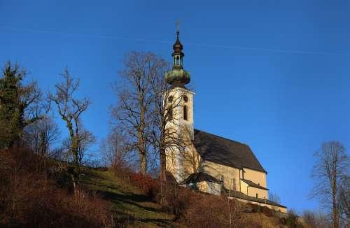 Attersee Salzkammergut Lake Austria Alpine Church