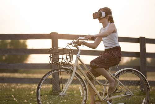 Augmented Reality Bicycle Bike Child Cyclist Fence