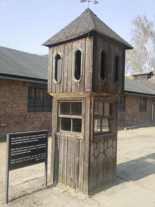 Auschwitz Guard War Nazi Jews Post