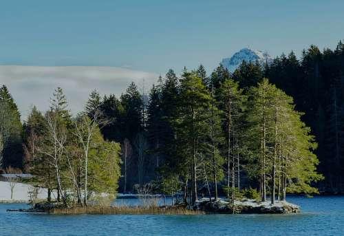 Austria Tyrol Hintersteinersee Lake Winter Water