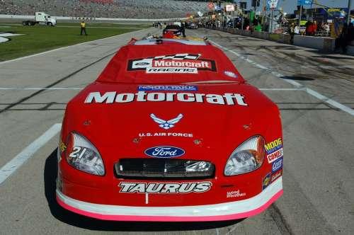 Auto Racing Nascar Car Sport Racing Speedway