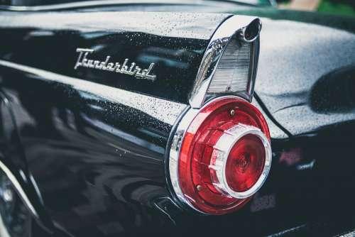 Automobile Car Close-Up Tail Light Vehicle Vintage