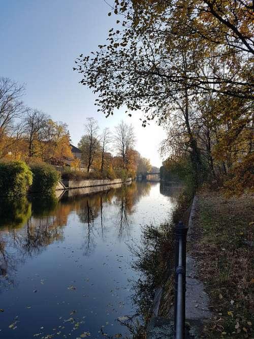 Autumn Berlin Nature Park Trees Germany Landscape