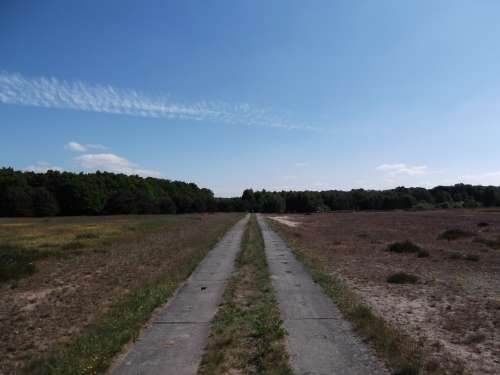 Away Feldeweg Blue Sky Horizon Landscape