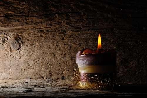 Background Wood Candle Light