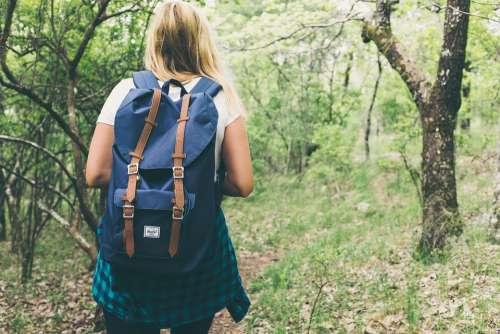 Backpack Bag Woman Girl Female Forest Lady