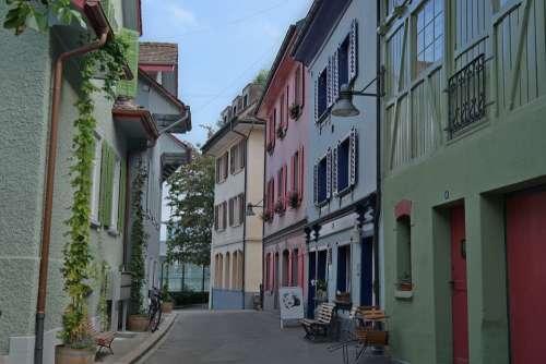 Baden Switzerland Colorful Houses Europe Travel