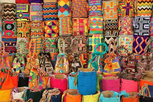 Bags Colorful Colombia Market Sale Color Shopping