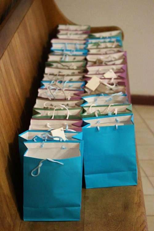 Bags Gifts Colorful Blue Advent Calendar Fill