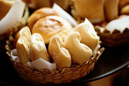 Baked Bread Rolls Fresh Healthy Yeast Homemade