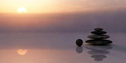 Balance Meditation Meditate Silent Rest Sky Sun