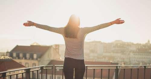 Balcony Person Standing Sunshine Woman Freedom