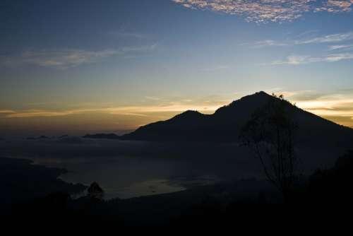 Bali Indonesia Nature Volcano Mountain