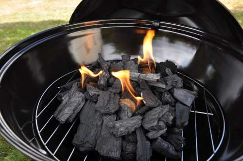 Ball Grill Light The Grill Charcoal Fire